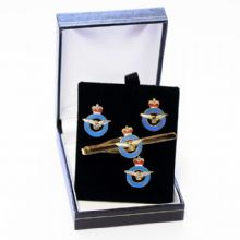 RAF Per Ardua Ad Astra - Cufflinks, Tie Slide or Boxed Set from